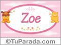 Zoe - Nombre para bebé