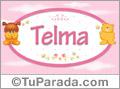 Nombre para bebé, Telma