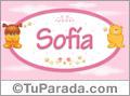 Nombre para bebé, Sofia