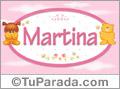 Nombre para bebé, Martina