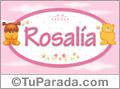 Nombre para bebé, Rosalía.