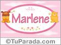 Nombre para bebé, Marlene