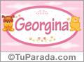 Nombre para bebé, Georgina