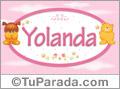 Yolanda - Nombre para bebé