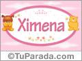 Nombre para bebé, Ximena