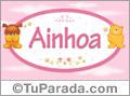 Nombre para bebé, Ainhoa