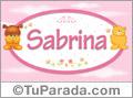 Nombre para bebé, Sabrina