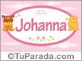 Nombre para bebé, Johanna