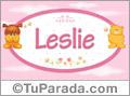 Nombre para bebé, Leslie.