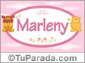 Nombre para bebé, Marleny.