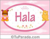 Hala - Nombre para bebé