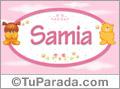 Nombre para bebé, Samia