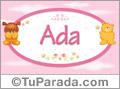 Nombre para bebé, Ada