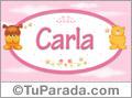 Nombre para bebé, Carla