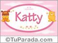 Nombre para bebé, Katty