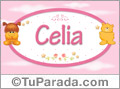 Nombre para bebé, Celia