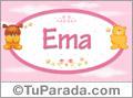Nombre para bebé, Ema