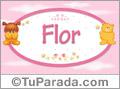 Flor - Nombre para bebé