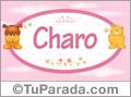 Nombre para bebé, Charo