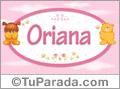 Nombre para bebé, Oriana
