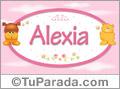 Nombre para bebé, Alexia