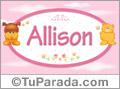 Allison - Nombre para bebé