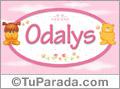 Nombre para bebé, Odalys
