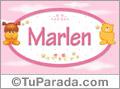 Nombre para bebé, Marlen
