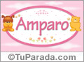 Nombre para bebé, Amparo