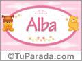 Nombre para bebé, Alba