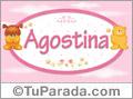 Nombre para bebé, Agostina