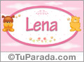 Nombre para bebé, Lena