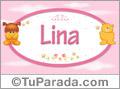 Nombre para bebé, Lina