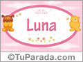 Nombre para bebé, Luna