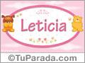 Nombre para bebé, Leticia