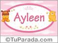 Nombre para bebé, Ayleen