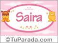 Nombre para bebé, Saira