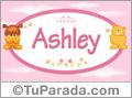 Nombre para bebé, Ashley