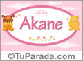 Nombre para bebé, Akane