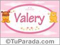 Nombre para bebé, Valery