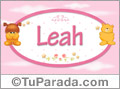 Nombre para bebé, Leah