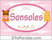 Sonsoles - Nombre para bebé