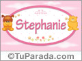 Nombre para bebé, Stephanie