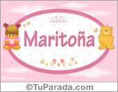 Maritoña - Nombre para bebé
