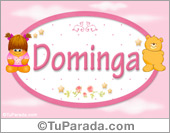 Dominga - Nombre para bebé