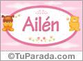 Nombre para bebé, Ailén