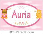 Auria - Nombre para bebé