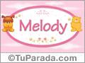 Melody - Nombre para bebé