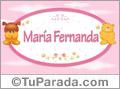 Nombre para bebé, María Fernanda