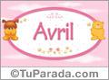 Avril - Nombre para bebé